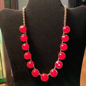 Gold-tone Costume Necklace With Faceted Beads